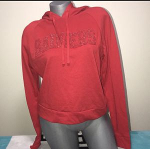 VS Pink College Badgers University Hoodie Cropped Small for Sale in North Olmsted, OH