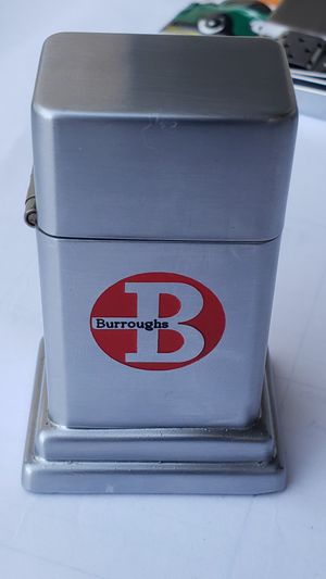 1956 or 57' ZIPPO Barcroft Town & Country Burroughs Logo engraved lighter in Ex Condition for Sale in Scottsdale, AZ