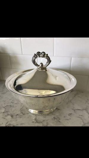 Vintage-Gorham antique-silver-bowl with lid for Sale in Manhattan Beach, CA