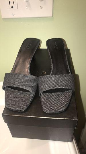 Gray Monogram Gucci Sandal Heel for Sale in Great Falls, VA