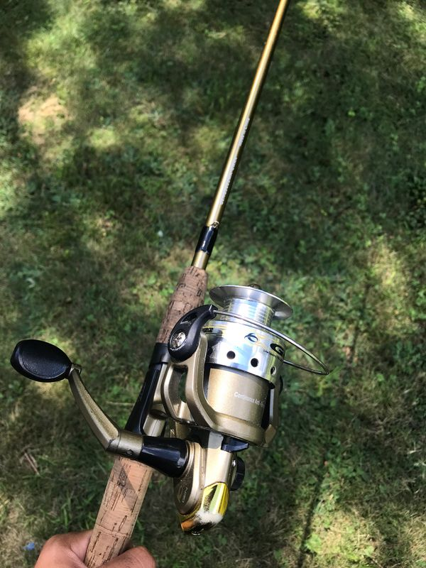 Used fishing rod and reel combo