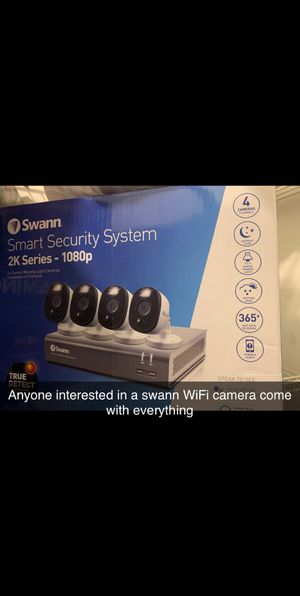 Swann security system comes with tv for monitoring for Sale in Edwardsville, IL