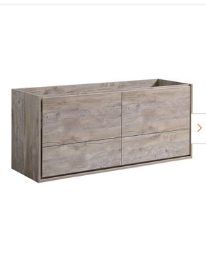 Catania 60 in. Modern Wall Hung Bath Vanity Cabinet Only in Rustic Natural Wood for Sale in San Jose, CA
