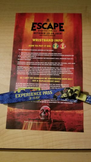 Insomniac Escape Psycho Circus 2-Day GA Pass for Sale in West Hollywood, CA