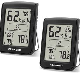 2 Pieces Digital Hygrometer Thermometer, Accurate Room Indoor Humidity and Temperature Gauge Monitor Meter Indicator with Min and Max Records (2 Pcs) for Sale in Orlando,  FL