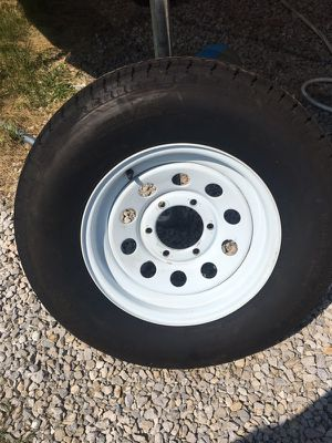 Goodyear tire and rim five lug new. Spare for Triler or rv for Sale in Ostrander, OH