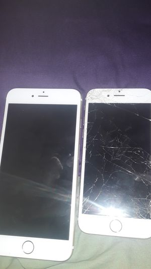 iPhone 6 plus(locked no cracks) an iPhone 6s (cracked) for Sale in Landover, MD
