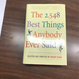2,548 Best Things Anybody Ever Said for Sale in Puyallup, WA