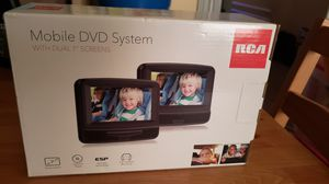 BRAND NEW Dual Mobile DVD system. 2 Screens, with headrest harness for Sale in Bridgeport, CT