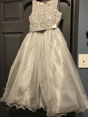 Silver flower girl dress for Sale in Irving, TX