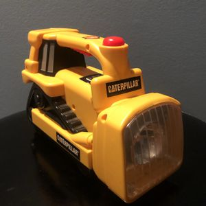Toy State Kids Flashlight CAT Caterpillar Bulldozer Preowned Lights Sounds works for Sale in Moon Township, PA