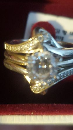 2 in one wedding and engagement rings for Sale in Valmeyer,  IL