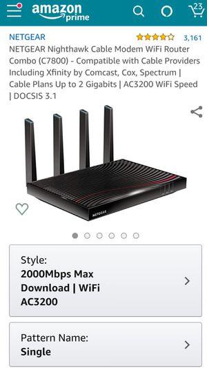 Nighthawk X4S AC3200 Modem Router for Sale in Adkins, TX