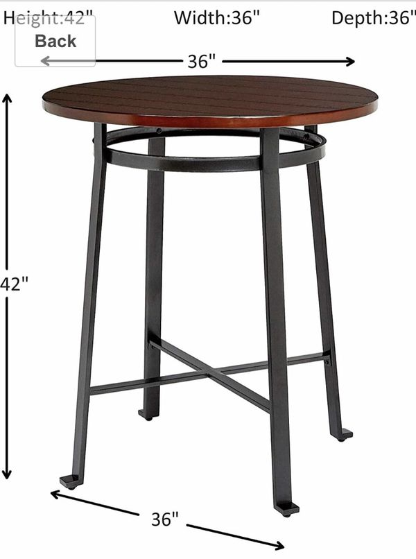 Hi top bar table and stools