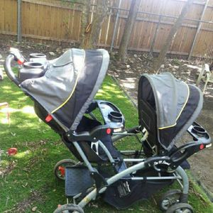 Double Stoller and Car Seat for Sale in Fort Worth, TX