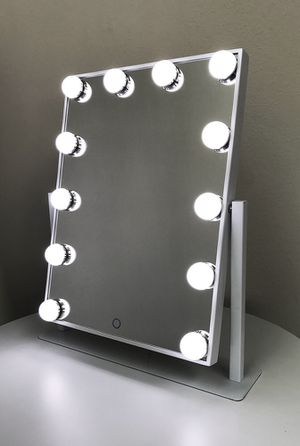 """New $70 each Vanity Mirror 12 Dimmable Light Bulbs Hollywood Beauty Makeup, 16""""x12"""" for Sale in City of Industry, CA"""