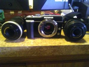 Olympus camera with two lens for Sale in Eugene, OR