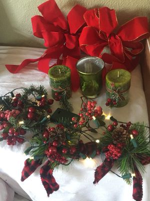 NEW Christmas candles, LED lights and decor from Pier 1 Imports. $5 each for Sale in Lakeland, FL