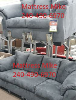 New ashley Furniture Sofa And Loveseat 2pc Set Steel Set for Sale in College Park,  MD