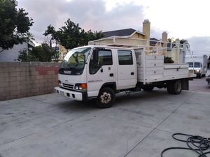 Isuzu flatbed utility truck runs and drives excellent no mechanical issues for Sale in Alhambra, CA