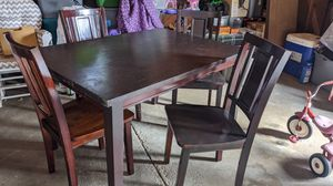 4 chair solid oak dining room kitchen table set for Sale in Ravenna, OH