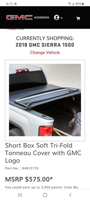 Oem 2015 to 2018 GMC sierra 1500 or chevy 6.5 ft tri fold tonneau soft cover for Sale in PA, US