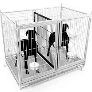 Dog Pet Cage Kennel Size 43 Lower Tube Bar With Divider And Feeding Bowls New In Box 📦 for Sale in Chino, CA