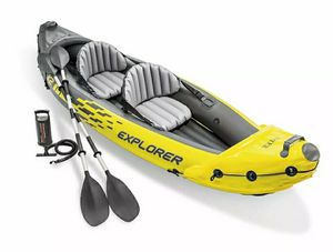 Intex Explorer K2 Kayak 2-Person Inflatable Set with Oars and Air Pump for Sale in Waterford, CT