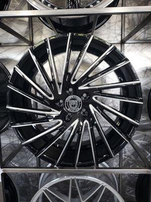 "20"" gloss black milled Lexani wraith wheels fits BMW Mercedes rim size 20x8.5 and 20x10 for Sale in Tempe, AZ"