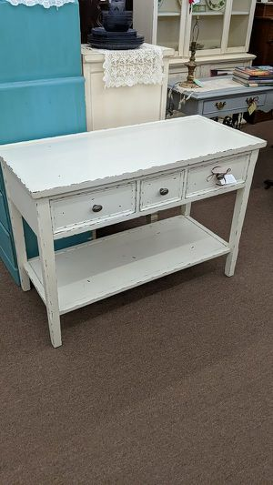 Shabby White Console Table for Sale in Mesa, AZ