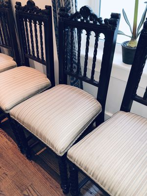 Set of 8 Hand Made Chairs - Circa Late 1800's -Spanish made - Beautiful for Sale in Bellaire, TX