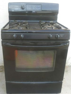 Kenmore Range gas stove black good condition Can deliver for Sale in Las Vegas, NV