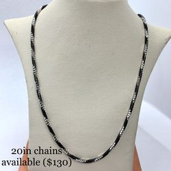 18 Inch Solid Silver 925 Chain (parts Painted Black) for Sale in Santa Ana,  CA