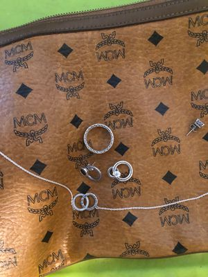 MCM bag pandora ring earring and necklace for Sale in Philadelphia, PA