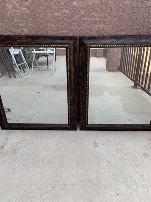 Two beautiful mirrors in excellent condition for Sale in North Las Vegas, NV