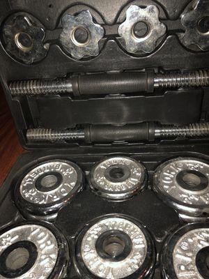 York adjustable chrome dumbbells 30lb for Sale in Itasca, IL