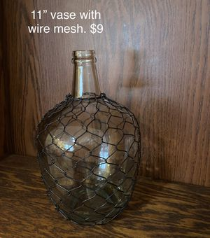 """11"""" vase with wire mesh. $9 for Sale in Columbia, SC"""