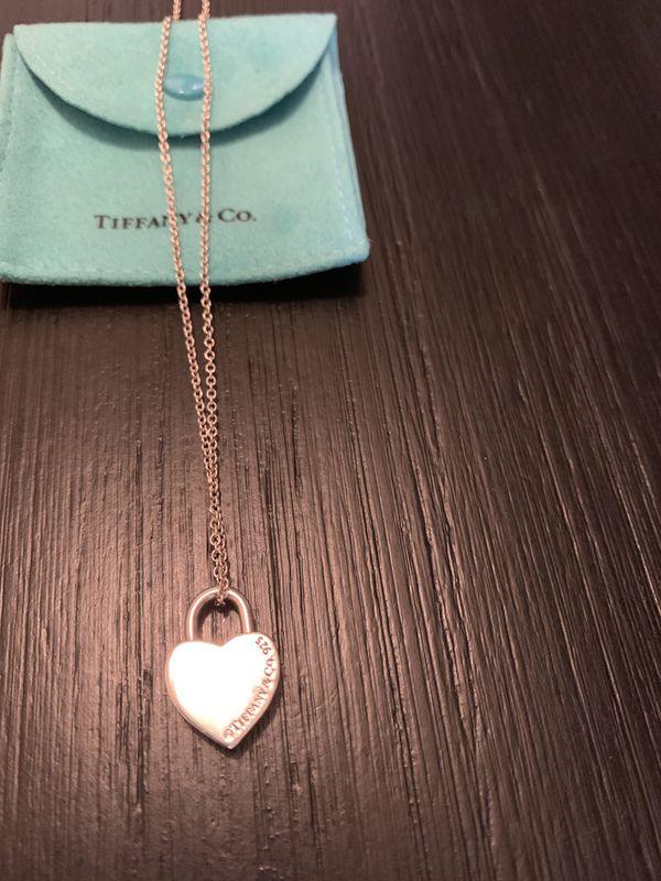 Tiffany & Co Heart Lock charm pendant necklace