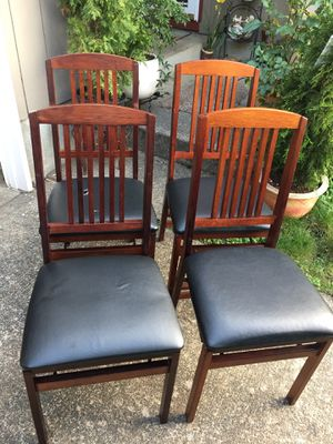 Folding wood chairs for Sale in Tigard, OR