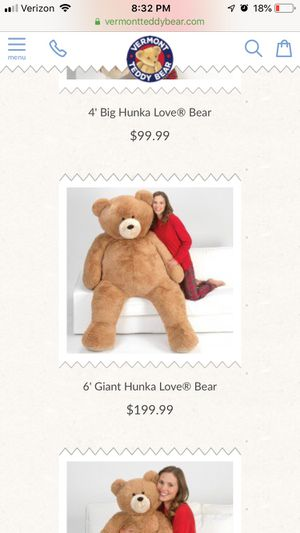 6' Giant Hunka Love Bear for Sale in Indianapolis, IN