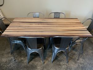 Butcher block style dining table for Sale in Everett, WA