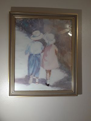 Painting in glass frame for Sale in Nashville, TN