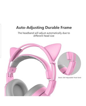 G951s Pink Stereo Gaming Headset with Mic for PS4, Xbox One, PC, Mobile Phone, 3.5MM Sound Detachable Lightweight Self-Adjusting New Sealed for Sale in Silver Spring, MD