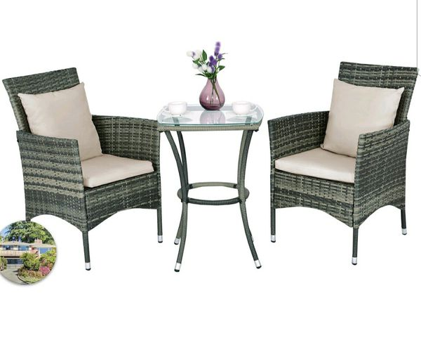 3 pieces outdoor furniture