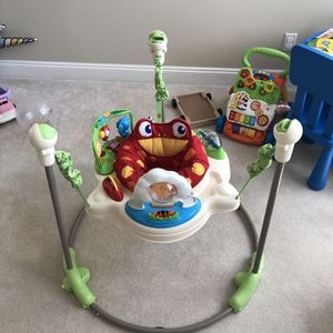Fisher-Price Rainforest Jumperoo + Free toy for Sale in Portland, OR