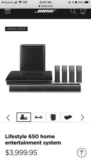 ONE YEAR OLD Bose 650 system for Sale in Newport Beach, CA