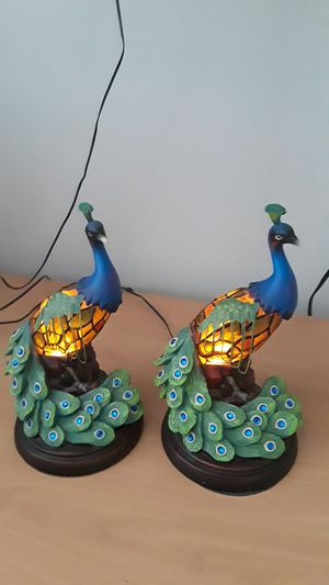 Vintage Staind Glass Peacock Lamps for Sale in Willowbrook, IL
