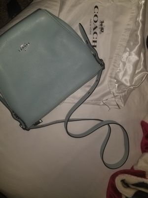Baby blue Coach messenger bag for Sale in North Las Vegas, NV