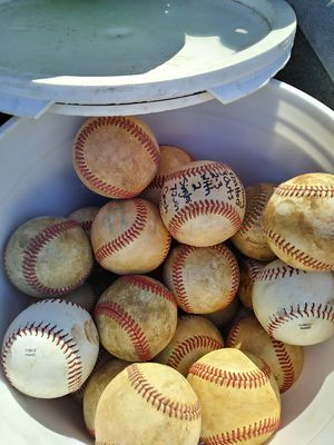 Two buckets of baseballs for Sale in West Palm Beach, FL