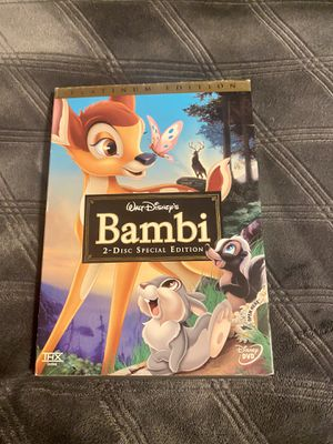 Disney animated Bambi platinum edition dvd movie for Sale in Oregon City, OR